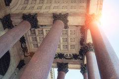 Colonnade of the St Isaac Cathedral in St Petersburg Russia Royalty Free Stock Photography