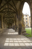 Colonnade in St. John's college. Cambridge, UK Royalty Free Stock Photo