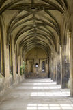 Colonnade in St. John universiteit, Cambridge, Royalty-vrije Stock Foto