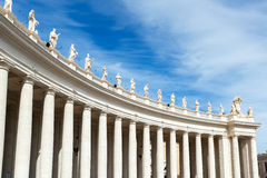 Colonnade of St. Peter's basilica in Rome Stock Photography