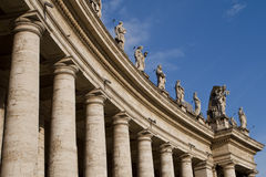 Colonnade at St Peters Sqare, Rome, Italy. Stock Photos