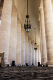 Colonnade of St. Peters Square, Vatican City (Rome) Stock Photography