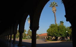 Colonnade at Stanford University Stock Image