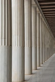 Colonnade in stoa of Attalos Stock Photo