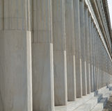 Colonnade in stoa of Attalos Stock Photos