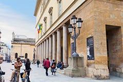 Colonnade Teatro of Regio di Parma - opera house in Parma, Italy Royalty Free Stock Image