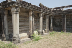 Colonnade at the temple complex of Angkor Wat Stock Photography