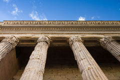 Colonnade of the temple of Hadrian Stock Images