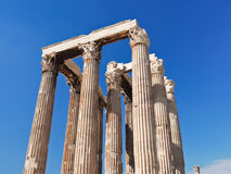 Colonnade of Temple of Olympian Zeus, Athens Royalty Free Stock Photography