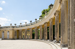 Colonnade from the 18th century in Potsdam Stock Image