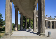 Colonnade from the 18th century in Potsdam park Sanssouci Royalty Free Stock Photos