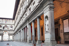 Colonnade of Uffizi Gallery in Florence city Stock Photography