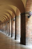Colonnade in Urbino. A medieval town in Italy Royalty Free Stock Photography