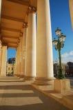 Colonnade van Bolshoi-theater Stock Foto's
