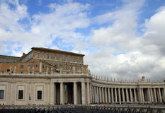 Colonnade in Vatican Stock Image