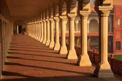 Colonnade walkway leading to Diwan-i- Khas Hall of Private Audi Stock Photo