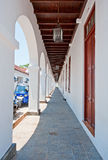 The colonnaded archway in Galle, Sri Lanka Royalty Free Stock Photography