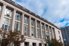 Colonnaded Fassade des öffentlichen Gebäudes in Madison Stockbilder