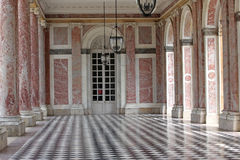 Colonnaded the Grand Trianon in Palace Versailles, France. The G Stock Photos
