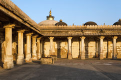 Colonnaded of historic Tomb of Mehmud Begada, Sultan of Gujarat Royalty Free Stock Photo