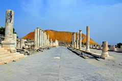 Colonnaded street Royalty Free Stock Image
