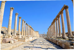 Colonnaded street Stock Images