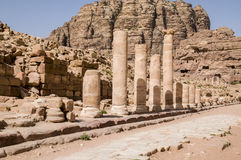 Colonnaded street, Jordan, Petra, Stock Images