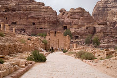 The Colonnaded street. Petra, Jordan Royalty Free Stock Photos