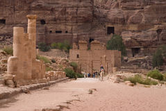 The Colonnaded street. Petra, Jordan Royalty Free Stock Photography