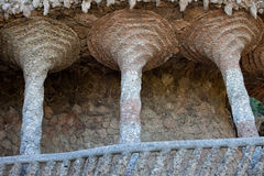 Colonnaded Terrace by Antoni Gaudi in Park Guell Stock Images