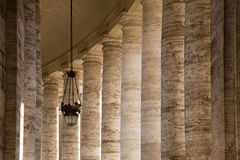 colonnaded walkway Royaltyfri Fotografi