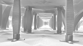 Free Colonnades. 3D Rendering Royalty Free Stock Images - 94792039