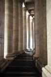 Colonnades of Bernini in the San Pietro square. Colonnades of Bernini in the Saint Peter`s square. vatican city Stock Image