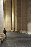 Colonnades of Bernini in the San Pietro square. Colonnades of Bernini in the Saint Peter`s square. vatican city Royalty Free Stock Photography