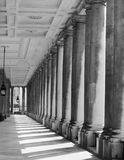 Colonnade on black and white Royalty Free Stock Images
