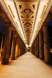 Colonnades at the National Gallery in Berlin, Germany. At night Royalty Free Stock Photography