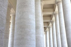 Colonnades of St. Peter's Square in Vatican City. Rome, Italy. Stock Photography