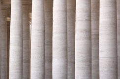 Colonnades of St. Peter's Square in Vatican City. Rome, Italy. Royalty Free Stock Image