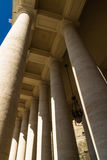 Colonnades, St Peters Square, with moon. Stock Photo