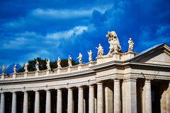 Colonnades that surround St Peter's Square in Rome, Vatican City Stock Photo