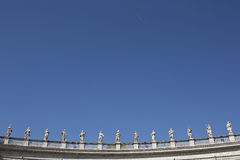 Colonnades in Vatican Royalty Free Stock Photo