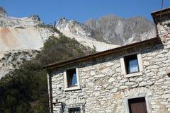 Colonnata Alpi di Apuan Provincia di Carrara e di Massa tuscany L'Italia Fotografia Stock