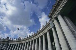 Colonnati di Città del Vaticano Immagini Stock