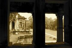 Colonnato, Ankor Wat Fotografie Stock Libere da Diritti