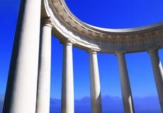 Colonnato bianca Fotografie Stock Libere da Diritti