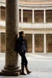 Colonnato del palazzo di Carlos V Fotografia Stock