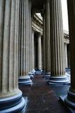 Colonnato della cattedrale di Kazan Immagine Stock