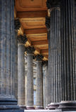 Colonnato della cattedrale di Kazan a St Petersburg Fotografie Stock