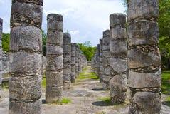 Colonnato di Chichen Itza Fotografia Stock