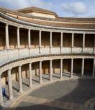 Colonnato Doric del palazzo di Charles V Fotografie Stock Libere da Diritti